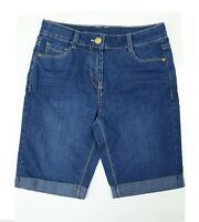 Girls 10-11 Years New Denim Blue Wash Long Shorts Crop Jeans Turn Up *LICK*