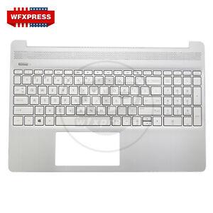 New HP 15-EF 15-EF0023DX 15-DY Palmrest W Keyboard L60341-001 L63578-001 A+ US