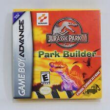 Jurassic Park III Park Builder Nintendo Game Boy Advance GBA Complete In Box CIB