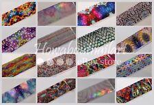 """Splashes""  Transfer Nail Foils set - ALL 16 pcs 20 cm each"