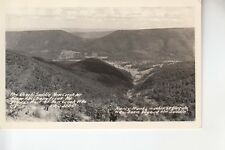 Real Photo Postcard The Devil's Saddle New Creek Mountain WV
