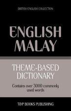 Theme-Based Dictionary British English-Malay - 3000 Words (2013, Paperback)