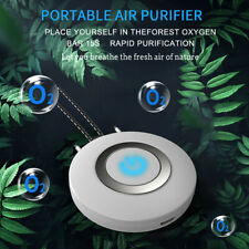 Portable Necklace Air Purifier Mini Wearable Negative Ion Generator Low Noise