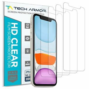 Tech Armor  HD Clear Film Screen Protector for Apple iPhone 11/XR [4-Pack]