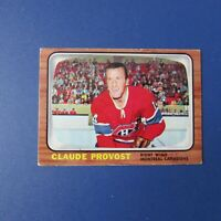 CLAUDE PROVOST   1966-67 Topps  # 9  Montreal Canadiens  1966 1967 66-67   EX