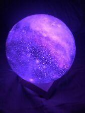 "Moon Galaxy Lamp Night Light 5.5"" 16 Colors USB Adjustable Brightness Kids"