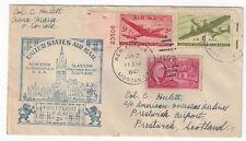 1947 New York FAM 24, Airmail FFC to Scotland
