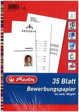 75 Blatt A4 Bewerbungspapier Premiumpapier Doppelseitig Satinweiß 160g//m²
