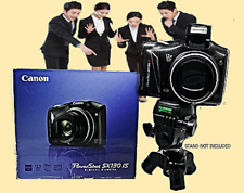 CANON SX130 IS Black in the Box-12X Optical Zoom-Large Screen-Image Stabilizer