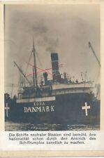 Nr 19852 Foto 1. Weltkrieg Schiff Edna Dänemark 12 x 18 cm