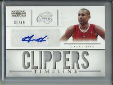 Grant Hill 12/13 National Treasures Autograph Game Used Jersey #31/49