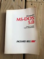MS-DOS Users Guide Version 5.0 Vtech Manual Vintage Deadstock Software Book