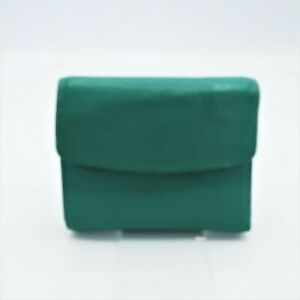 Women's Buxton Small Bifold  Card Wallet  Aqua Green Leather