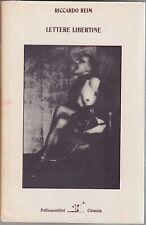 Reim, Lettere libertine, Pellicanolibri, 1982, De Sade, romanzo, Bellezza