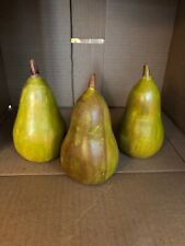 Preowned Decorative Wooden Pears