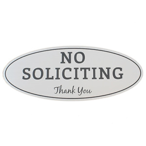 No Soliciting Sign – Digitally Printed Indoor/Outdoor Sign – Durable UV and - x