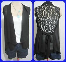 Lace Casual Regular Size Sleeveless Tops & Blouses for Women