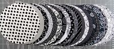 Black And White Fabric 20 Piece Pack 8 Inch Circles Quilt Fabric Premium Cotton
