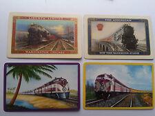 8 vintage railway playing cards P.R.R  ERIE  Atlantic coast NY. N.H.&Hartford
