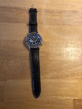 Patrick Arnaud Watch Stylish Design Leather Strap Turnable Bezel Chrono Style