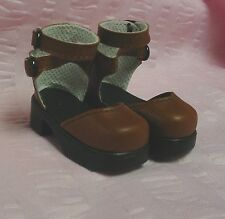 """37mm BLUE Sandals for Bleuette Doll Shoes Kaye Wiggs 11/"""" Raillie"""