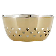 Stainless Steel Gold Bowl Hearts Design Kitchen Storage Dining Table Decoration