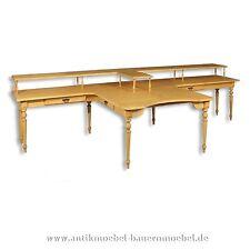 Schreibtisch,Beistelltisch,Tisch,Computertisch,mit Aufsatz,Weichholz,Gründerzeit