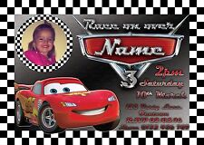 Cars Lightening McQueen Personalised Digital Invitation - Print At Home