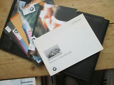 BMW 3 SERIES OWNERS HANDBOOK = PART BUYERS PACK WITH WALLET