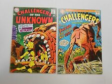 Challengers of the Unknown comic lot of 2! #'s 59 and 60! Vg4.0 range Dc!