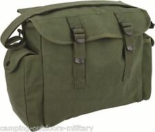New Army Green Large CANVAS Webbing Haversack Mens Bags Messenger Fishing Bag