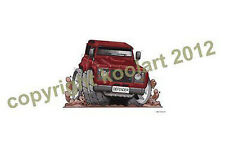 Koolart-Land Rover Defender-Rojo-Calidad Mouse Mat / Pad