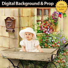 Spring Digital Background Prop For Photography Using Photoshop Template - Cart