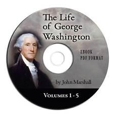 Life of George Washington-John Marshall-CD eBook PDF-US History-Best Biography