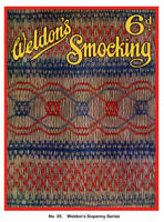 Weldon's 6D #35 c.1920's Vintage Sewing for English Smocking Patterns