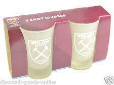 WEST HAM UNITED FC TWIN PACK SHOT GLASSES