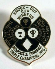More details for  newcastle diamonds speedway enamel pin badge - champions - ko cup winners 1976