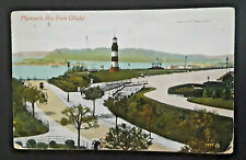Plymouth Hoe England To Värmland Sweden Lighthouse Illustrated Postcard