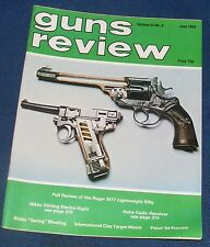 GUNS REVIEW MAGAZINE JUNE 1984 - THE RUGER M77 ULTRA LIGHT RIFLE