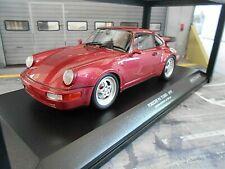 PORSCHE 911 964 Turbo Coupe 1990 red rot met  Minichamps Diecast  1:18