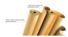 Heavy Duty Strong Brown Wrapping Paper – 500mm x 10M - One Role - 90gsm Thick