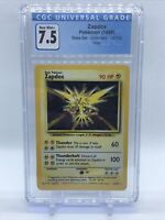 🔥1999 Pokemon Zapdos Holo Fossil base set Unlimited #16 CGC 7.5 Near Mint🔥 PSA