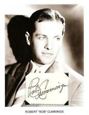 Robert Cummings Autograph Dial M for Murder The Devil and Miss Jones Saboteur #2