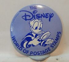 Vintage Disney Pin Badge  Disney The world Of Postage Stamps 5.5cm's