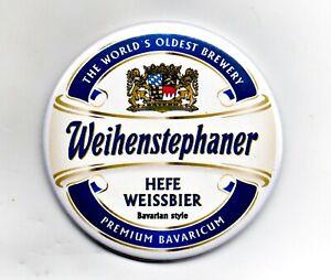 """Weihenstephaner Jumbo Fridge Magnet Beer Mat Bar 3"""" 75mm Blade Sub Badge Lager 2"""