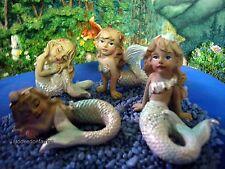 Mermaid – Set of 4 assorted MI 51202 Miniature Fairy Garden Dollhouse