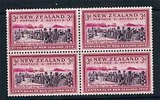 New Zealand 1940 3d Centennial BLOCK 4 SG 618 MNH