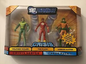 DC UNIVERSE CRISIS 3 PACK HEROES - THE FLASH - WEATHER WIZARD - MIRROR MASTER