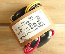 220V 30W r-core transformer for audio ampli amplificateur micros dac cd 9V+9V