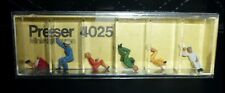 Preiser, Vintage, New Package, Item# 4025, Ho scale, Seated Train Spotters, 6x